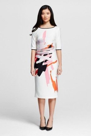 Abstract Dress in White