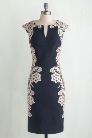 Lakeside Libations Dress in Navy