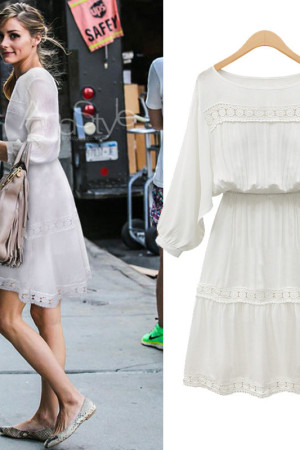 Amber Boho Lace White Dress