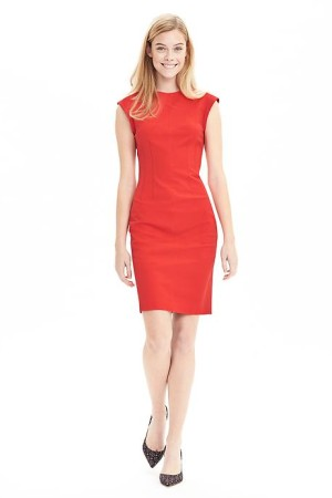 Crew Sheath Dress in Red
