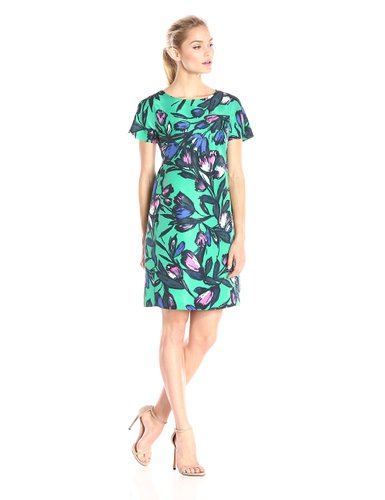 Donna Morgan Short Sleeve Printed Sheath Dress