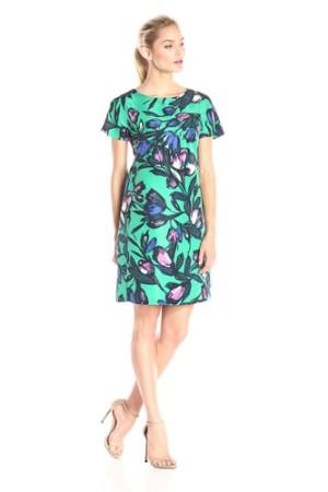 Donna Morgan Short Sleeve Printed Sheath Dress