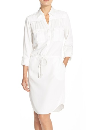 Embroidered Tencel® Shirt Dress