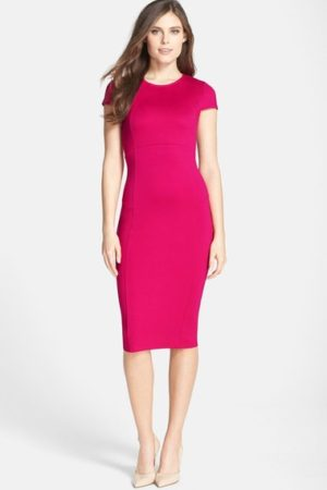 Seemed Pink Pencil Dress